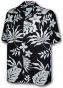 Paradise Motion Men's Rayon Hawaiian Shirts 470-107 Black