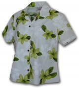 Pacific Legend Pink Plumerias Hawaiian Shirts - 348-3551 Lime