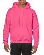 Gildan Mens Hooded Sweatshirt Safety Pink