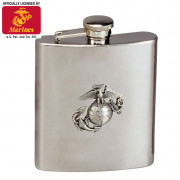 Rothco Stainless Steel Marine Corps Emblem Flask 650