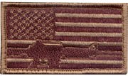 Rothco Subdued Flag & Rifle Morale Patch 72204