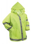 Rothco Safety Reflective Rain Jacket Safety Green - 3654