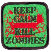 Rothco Airsoft Morale Velcro Patch - Keep Calm Kill Zombies # 73196