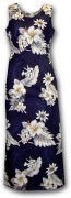 Pacific Legend Long Tank Hawaiian Dresses - 321-3162 Navy