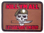 Rothco Airsoft Morale Velcro Patch - Kill Em All Let God Sort Em Out # 73197