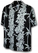Paradise Motion Men's Rayon Hawaiian Shirts 470-105 Black