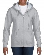 Gildan Women's Heavy Blend Full-Zip Hooded Sweatshirt Sport Grey