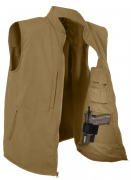 Rothco Concealed Carry Soft Shell Vest Coyote Brown 86600
