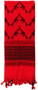 Rothco Crossed Rifles Shemagh Tactical Scarf Red - 8737