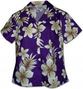 Pacific Legend Native Hibiscus Hawaiian Shirts - 348-3559 Purple