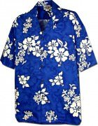 Men's Hawaiian Shirts Allover Prints 410-3156 Blue