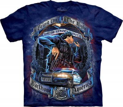 Футболка The Mountain T-Shirt Backbone Of America Police 104967, фото