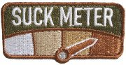 Rothco Suck Meter Morale Patch 1879