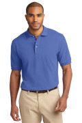 Port Authority Men's Pique Knit Polo Faded Blue
