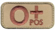 Rothco Airsoft Morale Velcro Patch - O Positive Blood Type # 73191