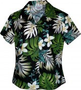 Pacific Legend Tropical Monstera Hawaiian Shirts - 348-3688 Black