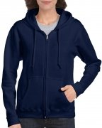 Gildan Women's Heavy Blend Full-Zip Hooded Sweatshirt Navy