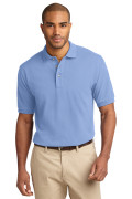 Port Authority Men's Pique Knit Polo Light Blue