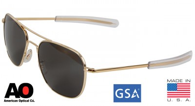 Очки American Optical The Original Pilot Sunglasses 55mm Gold Frame 10719, фото