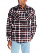 Wrangler Men's Authentics Long-Sleeve Flannel Shirt # Caviar