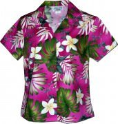 Pacific Legend Tropical Monstera Hawaiian Shirts - 348-3688 Pink