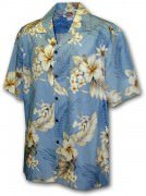 Men's Hawaiian Shirts Allover Prints - 410-3162 Blue