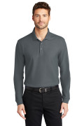 Port Authority Long Sleeve Core Classic Pique Polo Graphite K100LS