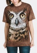 The Mountain T-Shirt Great Horned Owl Head 103447