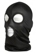 Маска с вырезами Microfiber Three-Hole Face Mask - Black - 5563