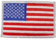 Rothco U.S. Flag Patch - Full Color with White Border / Forward - 2777