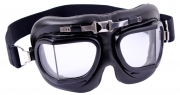Rothco Aviator Style Goggles Black - Clear Lens 10390