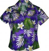 Pacific Legend Tropical Monstera Hawaiian Shirts - 348-3688 Purple