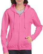 Gildan Women's Heavy Blend Full-Zip Hooded Sweatshirt Azalea
