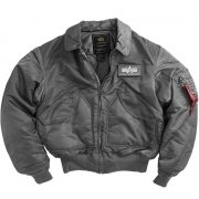 Куртка Alpha Industries CWU 45/P Flight Jacket Gun Metal скидка
