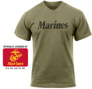 Rothco Distressed Marines T-Shirt Olive Drab 66455