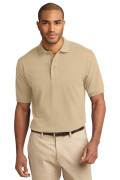 Port Authority Men's Pique Knit Polo Stone
