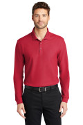 Port Authority Long Sleeve Core Classic Pique Polo Rich Red K100LS
