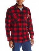 Wrangler Men's Authentics Long-Sleeve Plaid Fleece Shirt #  Red Buffalo