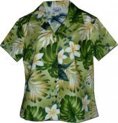 Pacific Legend Tropical Monstera Hawaiian Shirts - 348-3688 Sage