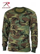 Rothco Kids Long Sleeve Camo T-shirt Woodland Camouflage 6705