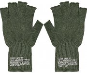 Перчатки Newberry Knitting® Cold Weather Fingerless Glove Insert Type II - Olive Drab - 8410