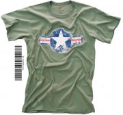 "Футболка Rothco Vintage Military T-Shirt - Olive Drab w/ ""Air Corp Star"" Print"
