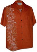 Pacific Legend Men's Single Panel Hawaiian Shirts - 444-3828 Tangy