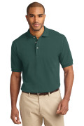 Port Authority Men's Pique Knit Polo Dark Green