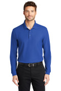 Port Authority Long Sleeve Core Classic Pique Polo True Royal K100LS