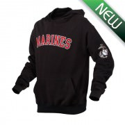 Толстовка Rothco Military Embroidered Pullover Hoodies - Black w/ Marines - 2043