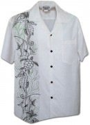 Pacific Legend Men's Single Panel Hawaiian Shirts - 444-3828 Snow