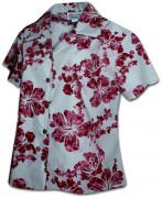 Pacific Legend Simple Hibiscus Hawaiian Shirts - 348-3765 Raspberry