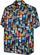 Men's Hawaiian Shirts Allover Prints - 410-3884 Navy