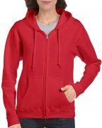 Gildan Women's Heavy Blend Full-Zip Hooded Sweatshirt Red